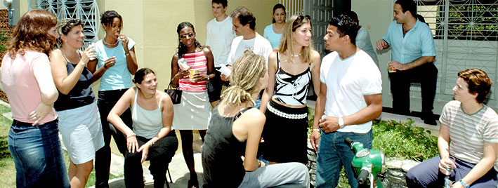 Students outside our Spanish school in Santo Domingo