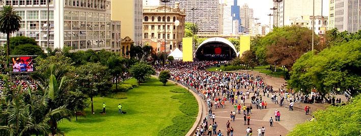 Concert in Parque do Anhangabaú, Sao Paulo