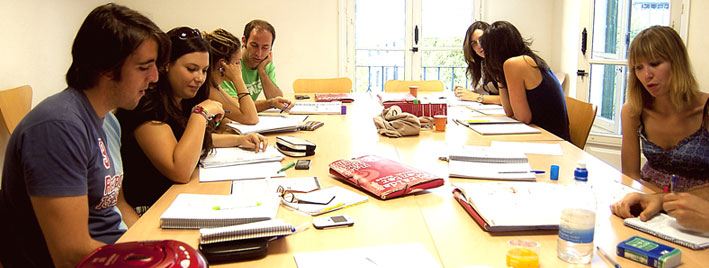Spanish language class in Seville