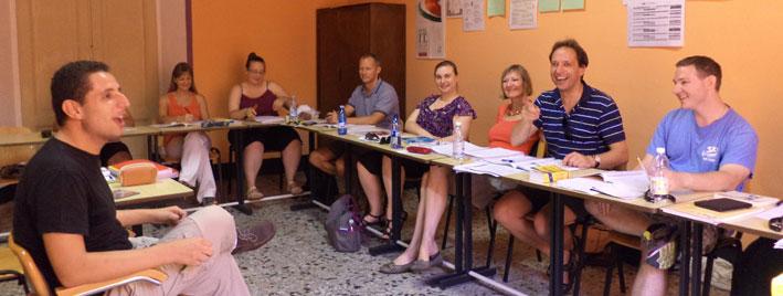 Italian classroom in Siena
