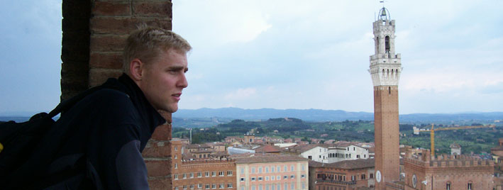 Looking over the Piazza del Campo, Siena
