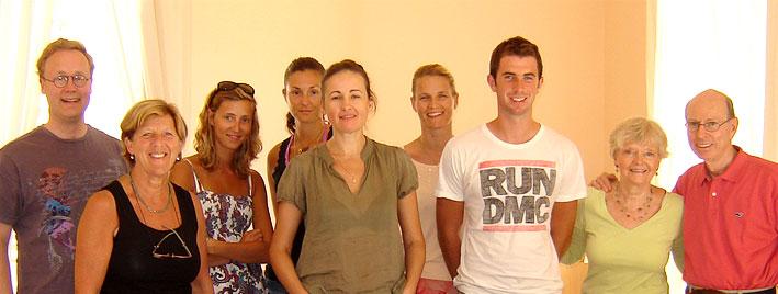 Italian class in Sorrento, Italy