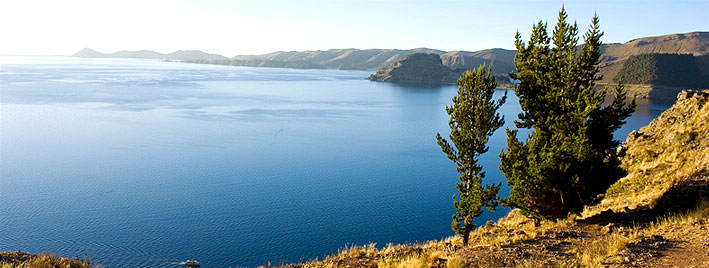 Lake Titicaca near Sucre, Bolivia