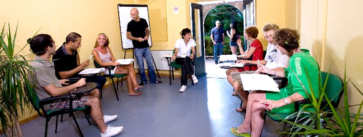 Italian class in Taormina