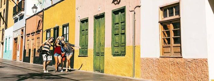 Students making friends, exploring Tenerife
