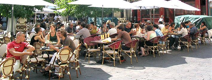 Café life in Tours, France