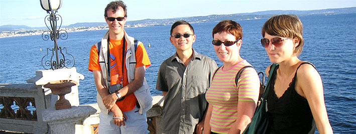 Making friends, exploring Trieste
