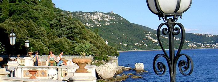 Coastline in Trieste, Italy