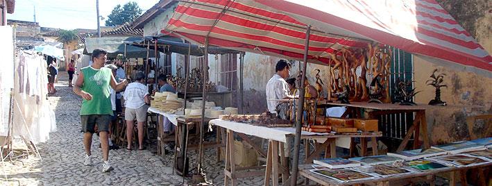 Market stalls in Trinidad, Cuba
