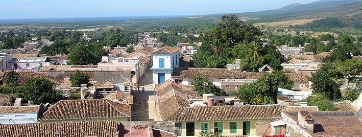 Overlooking rooftops in Trinidad, Cuba