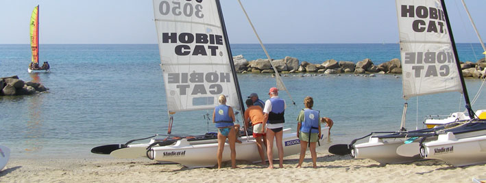 Learning to sail in Tropea, Italy