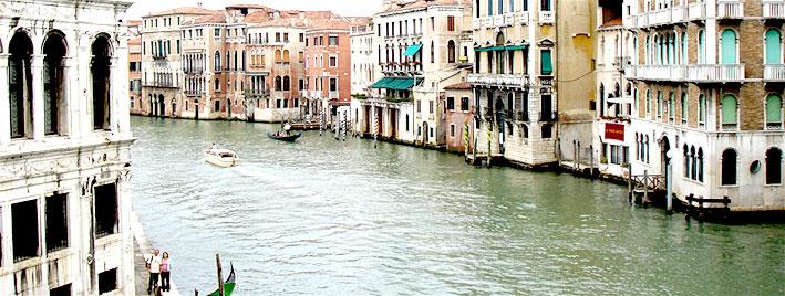 Italian river scene, Venice